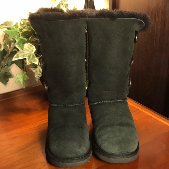 640fef4adb0 UGG Black Bailey 3 Button Tall Boots